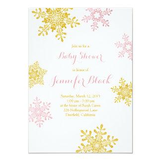 Blanco rosado del oro de la invitación el | de la
