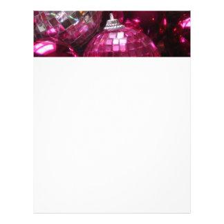 Blanco rosado del papel con membrete de las membrete a diseño