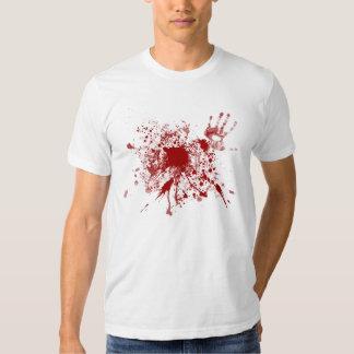 Blanco sangriento de la camiseta playeras