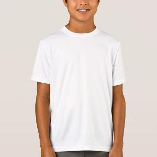 BLANCO seco de la camiseta de la malla del doble Playera
