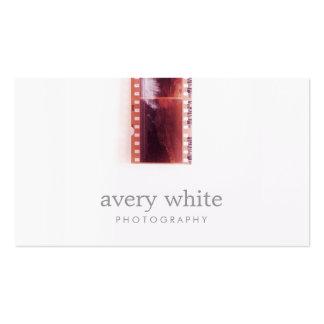 Blanco simple del fotógrafo del vintage de la tarjetas de visita