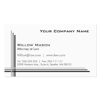 Blanco simple enmarcado tarjeta de visita