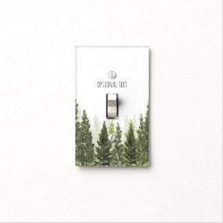 Blanco simple rústico del país de los árboles de tapa para interruptor