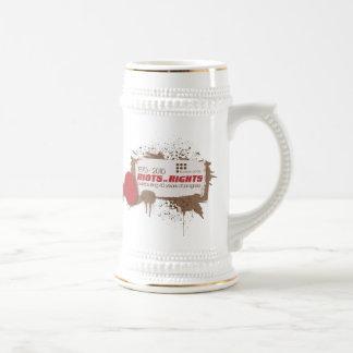 Blanco Stein de los alborotos Jarra De Cerveza