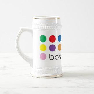 Blanco Stein del orgullo de Boston Jarra De Cerveza