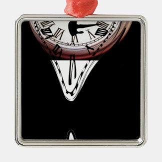 Blanco surrealista de fusión del negro del arte de adorno cuadrado plateado