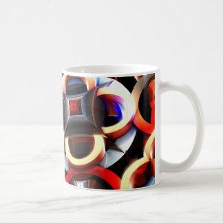 Blanco taza clásica de 11 onzas con coloreado