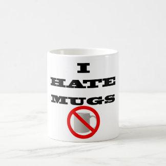 """Blanco taza de 325 ml con """"mí odio las tazas """""""