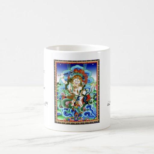 Blanco tibetano oriental fresco Jambhala del thang Tazas