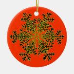 Blanco Transp del copo de nieve 2 el regalo de Ornamente De Reyes