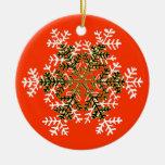 Blanco Transp del copo de nieve 2 el regalo de Adorno Para Reyes