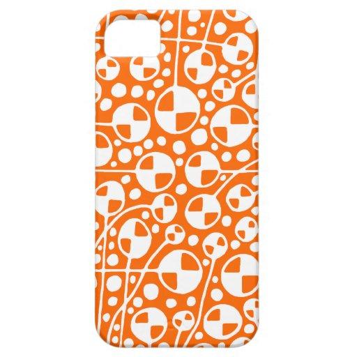 Blanco v5 del extracto 130112 en el naranja iPhone 5 carcasas