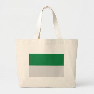 blanco verde del irland bolsa tela grande