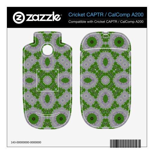Blanco verde del modelo 23 abstractos skins para cricket CAPTR
