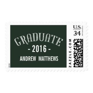 Blanco verde retro el | 2016 graduaciones sello postal