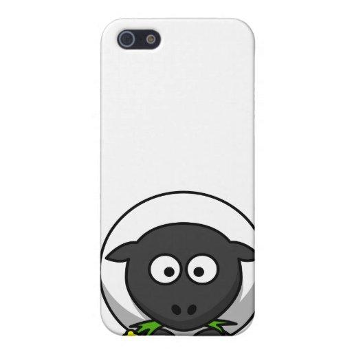 Blanco vergonzoso iPhone 5 funda