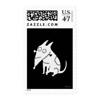 Blanco vivaracho de la sentada timbres postales