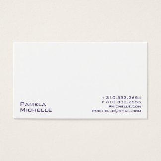 Blanco xxi tarjetas de visita