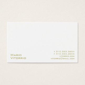 Blanco XXVI Tarjetas De Visita