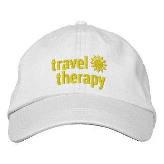 Blanco y amarillo bordados gorra de la terapia del gorra de béisbol