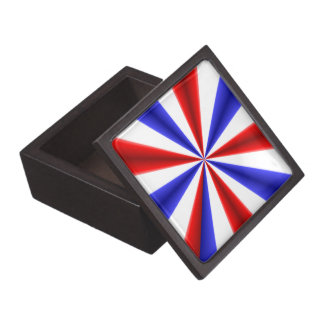 Blanco y azul rojos cajas de joyas de calidad