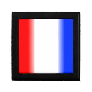 Blanco y azul rojos caja de regalo cuadrada pequeña