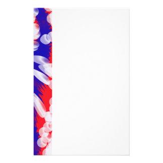 blanco y azul rojos  papeleria de diseño