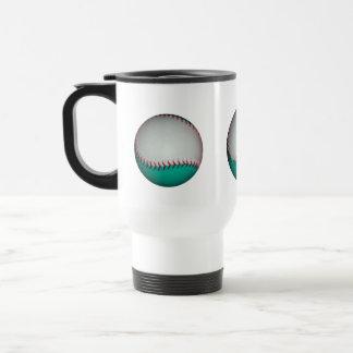 Blanco y béisbol del trullo/softball taza de viaje de acero inoxidable