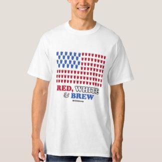 Blanco y Brew rojos - - humor de Politiclothes Playera