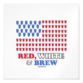 Blanco y Brew rojos