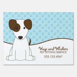 Blanco y cuidado de animales de compañía del perri