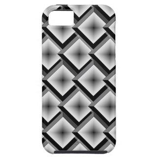 Blanco y diamantes acodados negro iPhone 5 carcasas
