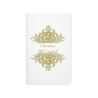 Blanco y diario del Barroco del oro Cuaderno