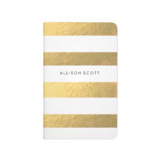 Blanco y diario personalizado oro cuadernos grapados