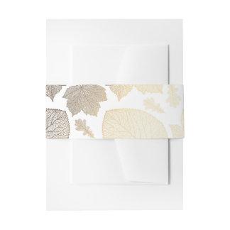 blanco y el casarse de las hojas de la caída del cintas para invitaciones