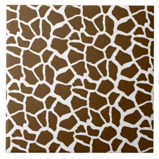 Blanco y estampado de animales de la jirafa de Bro Azulejo Cuadrado Grande