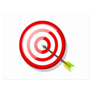 Blanco y flecha del tiro al arco postales