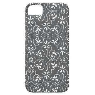 Blanco y gris adornados de moda del modelo del funda para iPhone SE/5/5s