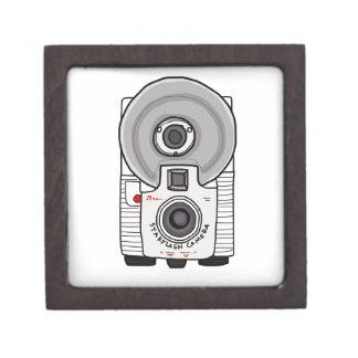 Blanco y gris de la cámara del vintage cajas de regalo de calidad