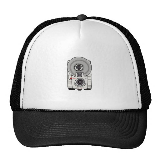Blanco y gris de la cámara del vintage gorras