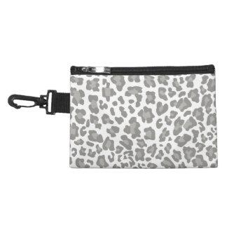 Blanco y gris del estampado leopardo