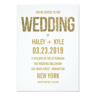 Blanco y invitación del boda de la tipografía del