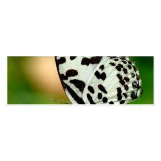 Blanco y mariposa manchada negro de Pierrot Tarjetas De Negocios