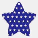 Blanco y modelo de estrella de la marina de guerra colcomanias forma de estrellas