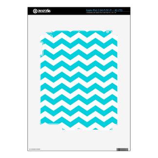 Blanco y modelo de zigzag de la aguamarina iPad 3 pegatina skin
