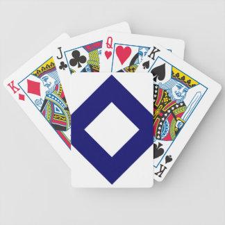 Blanco y modelo del diamante de la marina de guerr baraja cartas de poker