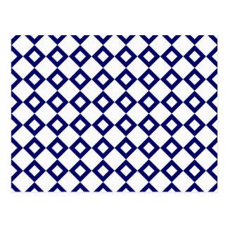 Blanco y modelo del diamante de la marina de guerr postal