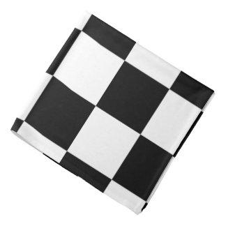Blanco y negro a cuadros bandana
