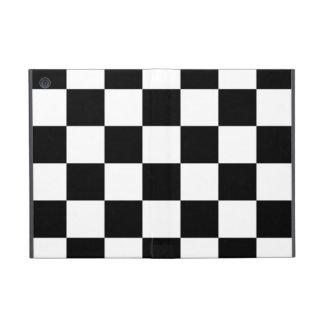 Blanco y negro a cuadros iPad mini cárcasas