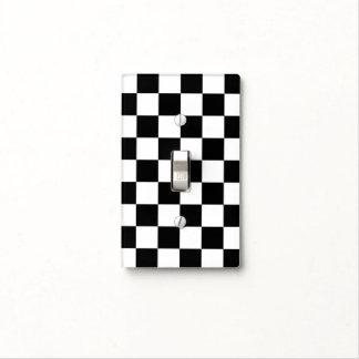 Blanco y negro a cuadros placa para interruptor
